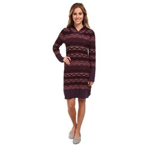 Prana Meryl Sweater Knit Hooded Purple Dress L